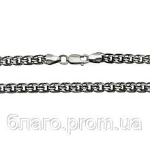 Серебряная цепь бисмарк (черненая)