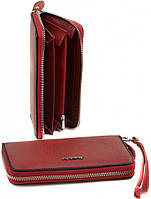 Женский кожаный кошелек клатч на молнии Alessandro Paoli натуральная кожа