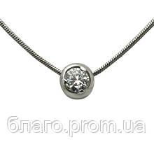 Срібний кулон з ланцюжком 925 проби