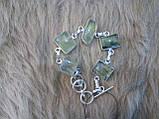 Ніжний браслет з каменем пренит в сріблі. Пренитовый браслет, фото 3