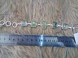 Ніжний браслет з каменем пренит в сріблі. Пренитовый браслет, фото 6