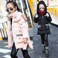 Зимняя куртка на девочку с рисунком