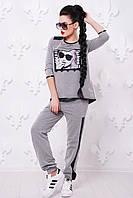 Молодежный спортивный светло-серый костюм Reveal fashion FashionUp 42-48 размеры