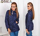 Куртка короткая женская осеняя норма+батал, фото 4