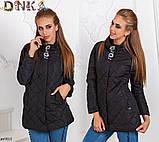 Куртка короткая женская осеняя норма+батал, фото 5