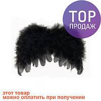 Крылья Ангела Детские 22х32см (черные) / карнавальный костюм