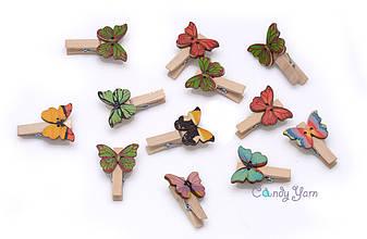"""Прищепка деревянная """"Бабочка"""" 3.5см*2,8см, шт"""