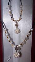 Ожерелье и браслет из морского жемчуга Акойя, фото 1