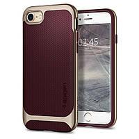 Чехол Spigen для iPhone 8 Neo Hybrid Herringbone, Burgundy , фото 1