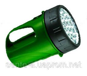 Фонарь светодиодный  19LED зелёный 6V 4,5AH  BUKO