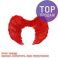 Крылья Ангела Средние 40х55см (красные) / карнавальный костюм
