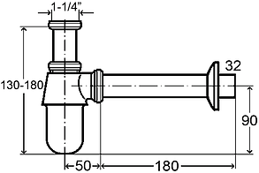 Бутылочный сифон для раковины VIEGA, фото 2