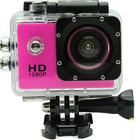 Экшен камера SJ4000 розовая Камера Водонепроницаемый Бокс 30м
