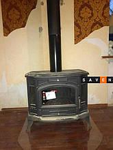 Чугунная печь KRATKI KOZA K9 Ø150. Монтаж печи в Одессе от компании Saven (мастер Сергей).