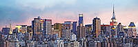 Фотообои на стену Горизонт Нью-Йорка, 127х366 см