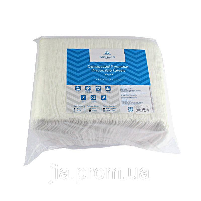 Одноразовые полотенца для педикюра Monaco Style гладкие 40х70 см, 100 шт. - Jia Beauty в Киеве