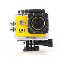 Экшен камера SJ4000 желтая Камера Водонепроницаемый Бокс 30м
