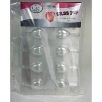Baking Tools Форма пластиковая для кейк-попсов Сердечки (США)