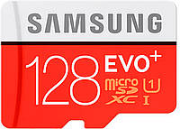Карта памяти Samsung EVO Plus microSDXC UHS-I 128GB сlass10 +SD