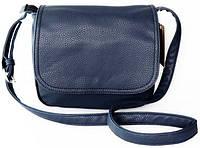 Женская кожаная сумка клатч планшет синего цвета
