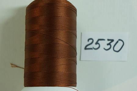 Нить Титан №20 2000 м. Италия цвет (2530) коричневий, фото 2