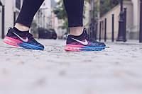 Женские кроссовки Nike Air Max Flyknit Woman blue-rose