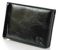 Мужской кожаный зажим для купюр ST на магните c визитницей