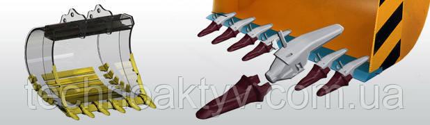 Ножи ковшей экскаваторов. Режущие кромки ковша