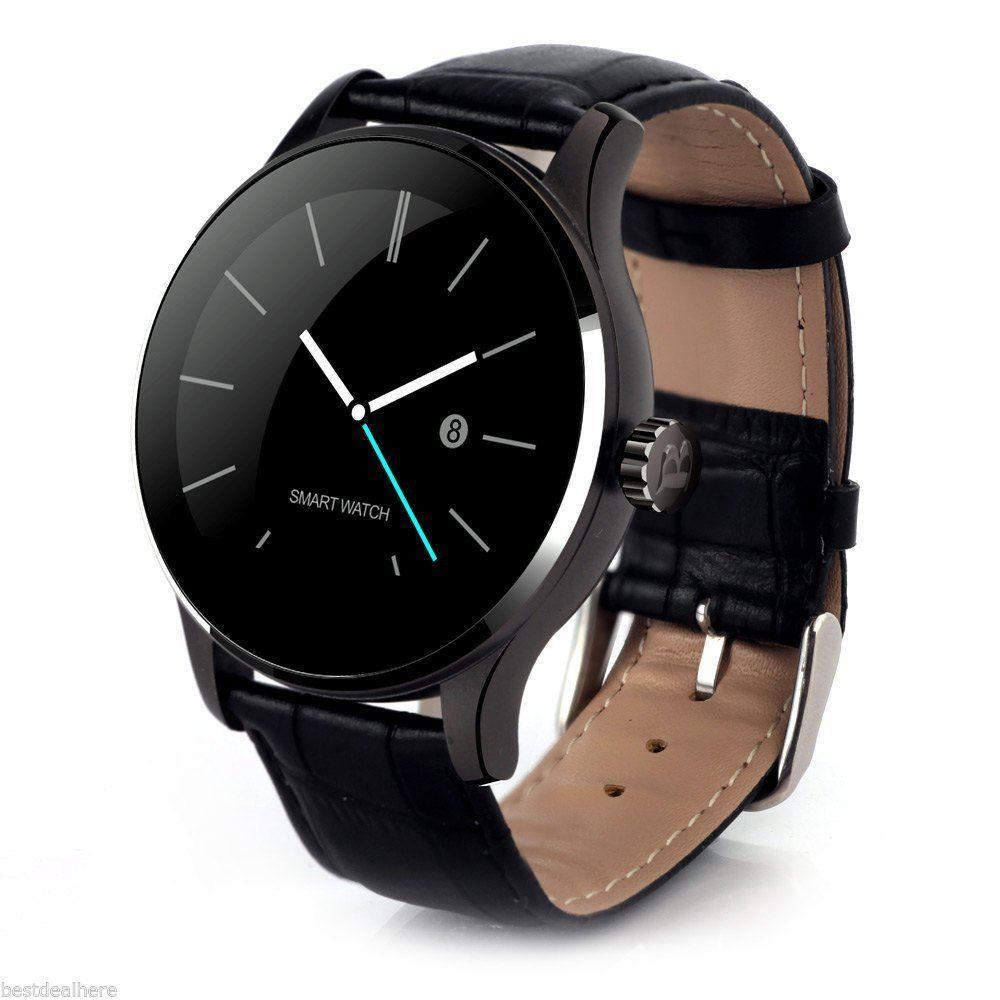 Смарт часы Smart Watch Makibes K88H черный Кожаный браслет