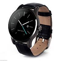 Смарт часы Smart Watch Makibes K88H черный Кожаный браслет, фото 1