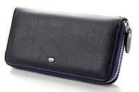 Женский кожаный кошелек клатч на молнии ST Цвет фиолетовый