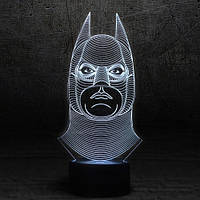 "3D Ночник , Светильник, LED лампа - ""Бетмен"""
