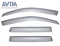 Дефлекторы окон (ветровики) Mitsubishi Outlander XL 2007-2014, кт. 4шт (MZ562880EX)