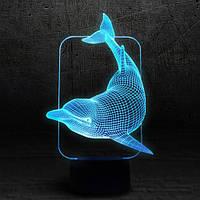 """3D Ночник , Светильник, LED лампа - """"Дельфин"""""""
