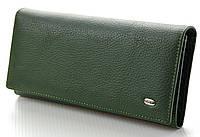 Женский кожаный кошелек ST Цвет зеленый