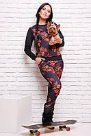 Модный спортивный черный костюм Jean-2 FashionUp 42-48 размеры