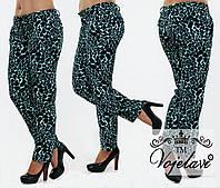 Модные брюки с ярким принтом Принт 48-54р. Разные цвета.