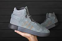 Кроссовки Adidas Tubular Invader grey. Живое фото! Топ качество (Реплика ААА+)