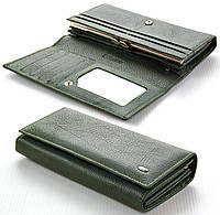 Женский кожаный кошелек ST цвет зеленый Натуральная кожа