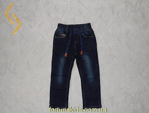 Джинсовые брюки на флисе для мальчиков S&D 98-128 р. р.