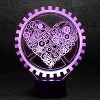 """3D Ночник , Светильник, LED лампа - """"Механическое сердце"""""""