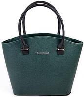 Женская кожаная каркасная сумка Цвет зеленый