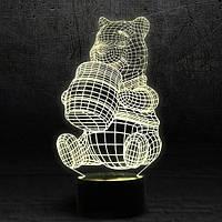 "3D Ночник , Светильник, LED лампа - ""Винни-Пух"""