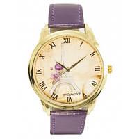 Наручные дизайнерские часы на узком ремешке AW 044