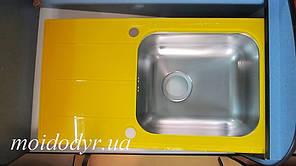 Мойка кухонная стеклянная 780x435x190 желтая