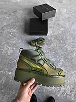 Кроссовки Puma x Fenty Boots Khaki. Живое фото. Топ качество (пума фенти)