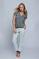 Женская стильная пижама. Штаны, футболка Pizama Agnes Sensis