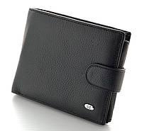 Мужской кожаный кошелек портмоне правник SТ натуральная кожа большой