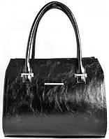 Женская кожаная сумка каркасная