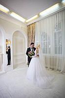 Пышное свадебное палатье со шлейфом